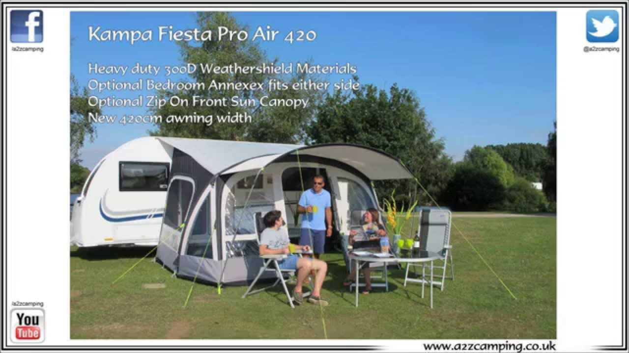 2015 Kampa Fiesta Air Pro 420 Caravan Awning Youtube