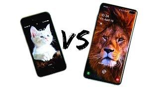 iPhone SE vs Galaxy S10 Plus Speed Test!