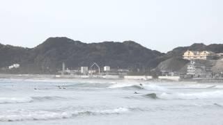 初心者必見サーフィン動画!2014年台風20号のいわき市豊間の波