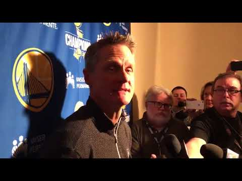 Steve Kerr Pregame Interview / GS Warriors vs Cavaliers / MLK Day