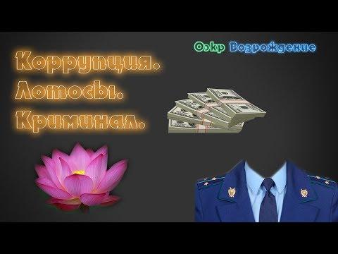 Коррупция, лотосы, криминал.
