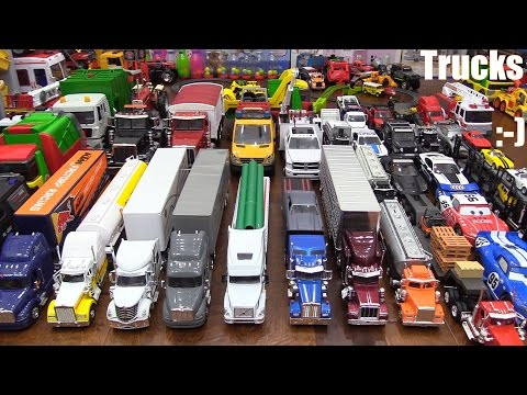 Thumbnail: Toy Cars & Trucks: Semi Trucks and Cars Diecast Collection. Disney Cars Artist Series and More!