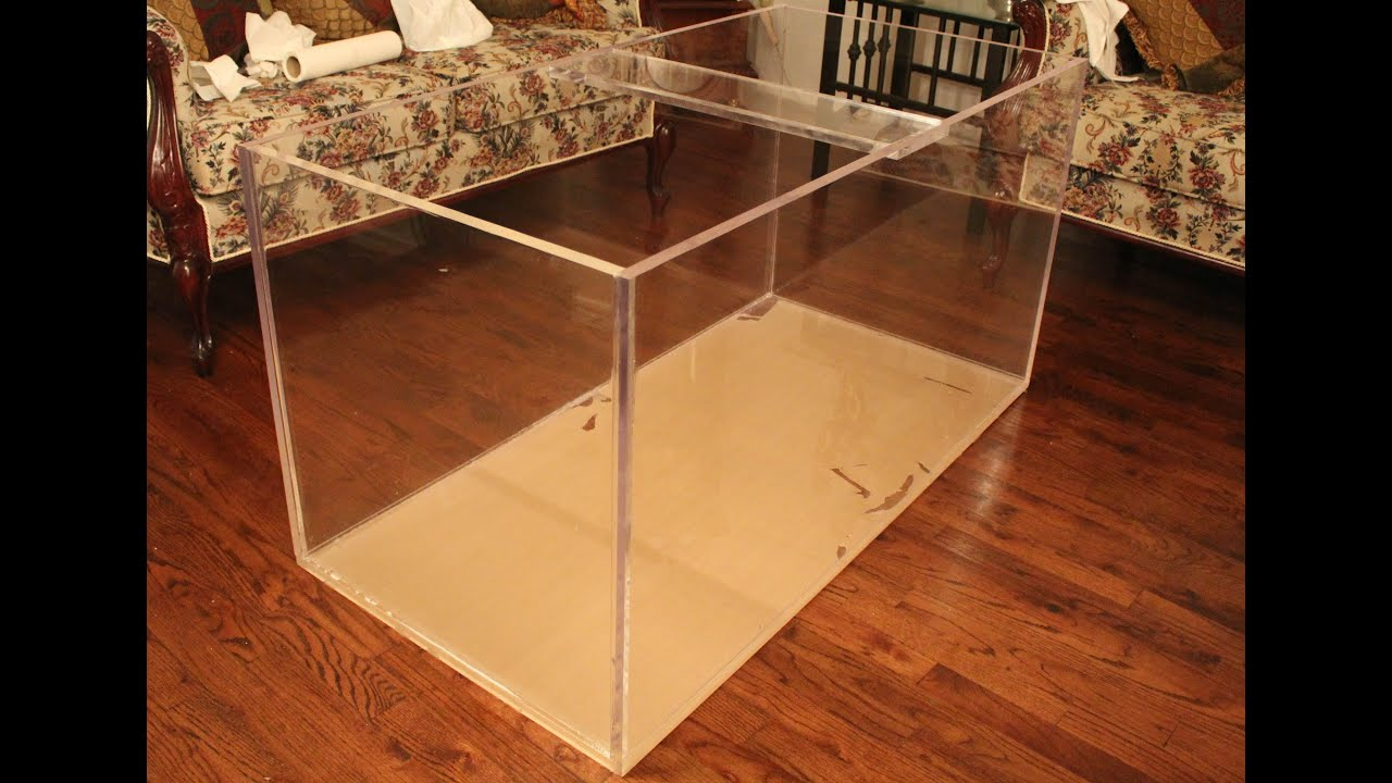 120 gallon acrylic aquarium build youtube for Construction aquarium