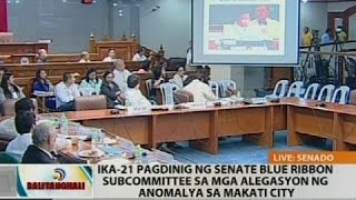 Pagdinig ng Senate blue ribbon subcommittee sa mga alegasyon ng anomalya sa Makati City (Part 2)