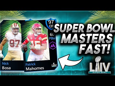 HOW TO GET SUPER BOWL MASTERS FAST! - Madden Mobile 20