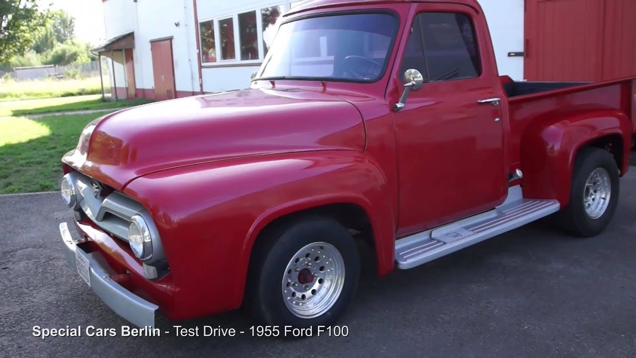 1955 Ford F100 V8 289 Shortbed Stepside Special Cars Berlin - YouTube