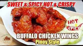 SPICY AND CRISPY BUFFALO CHICKEN WINGS TAMIS ANGHANG AT ANG YUMMY!!! EASY TO COOK!