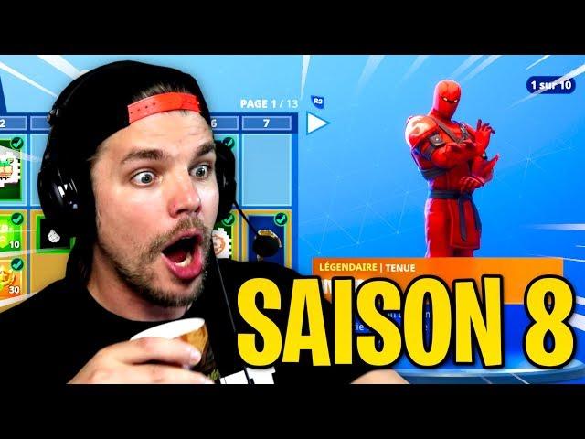 LES NOUVEAUX SKINS DE LA SAISON 8 DE FORTNITE !! (Passe de Combat)