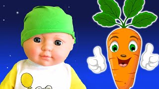 Vegetables Song and Funny Dolls Story - Colors and Numbers by La La Kids