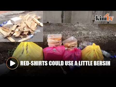 Rubbish everywhere following red-shirts protest
