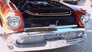 1957 Olds 98 Starfire Convertible RedWht MountDora050716