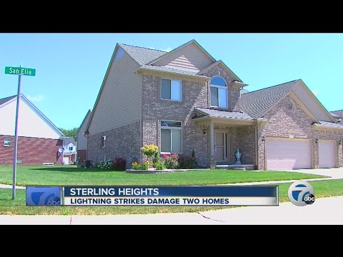 Sterling Heights homes struck by lightning