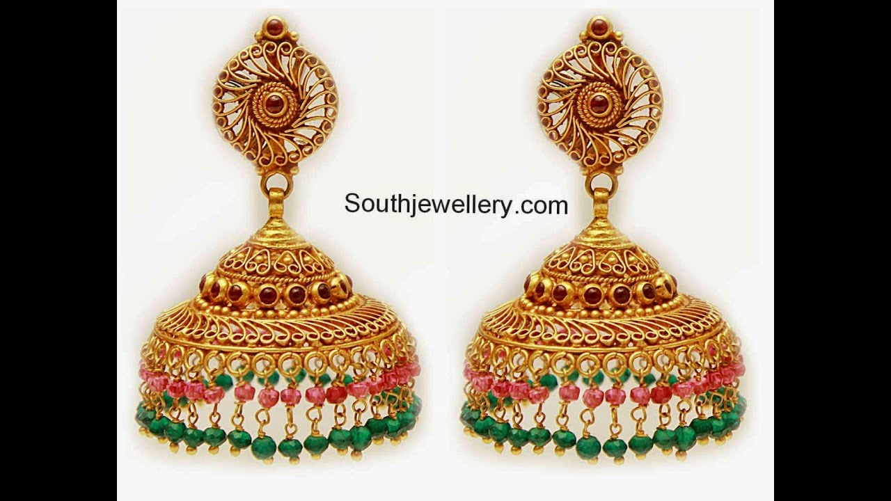 jewellery p earrings ear women buy u stones beads jhumka gold shopping online rings