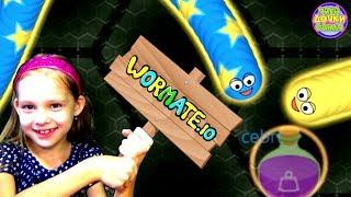 WORMATEIO ЗМЕИ Червячки и Слизарио WORMAXIO мультик игра про выращивание змеи Angry Snakes для детей