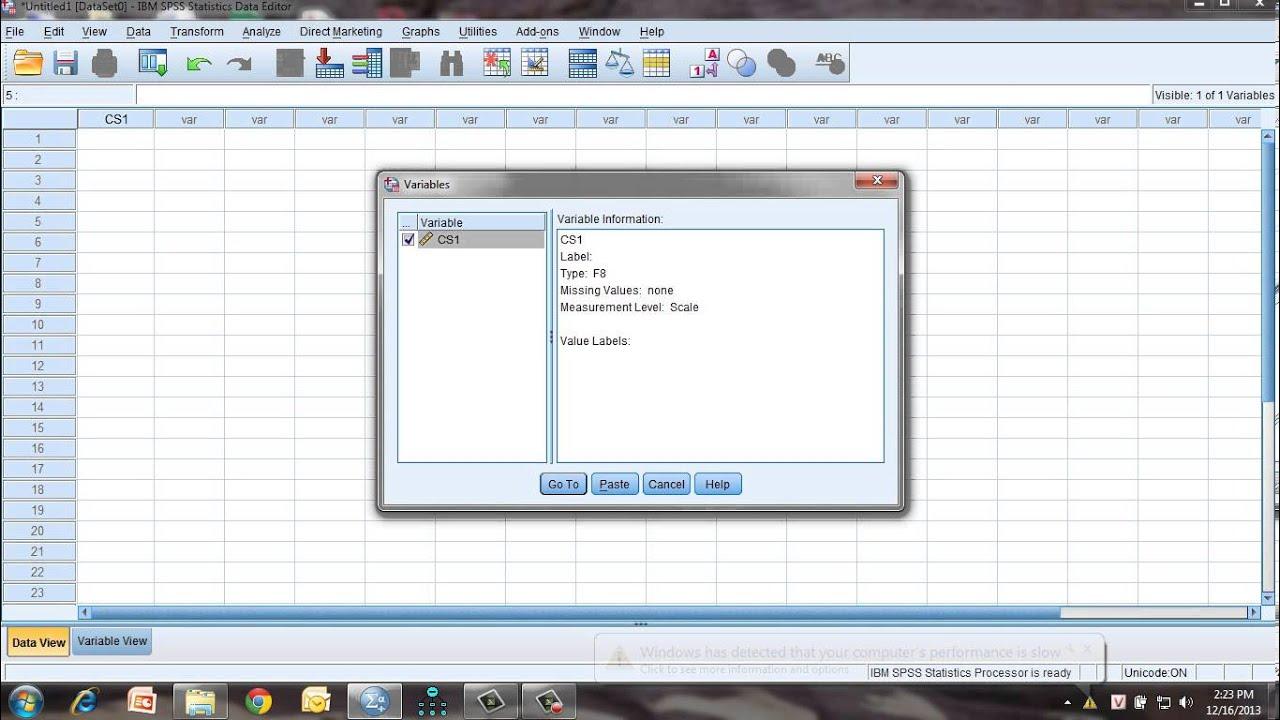Hướng dẫn sử dụng phần mềm spss 22   [SPSS 22] Giới thiệu và hướng dẫn thống kê mô tả