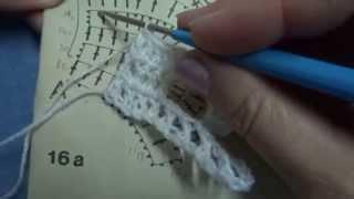 Вязание ленты в технике ленточного кружева Урок 39