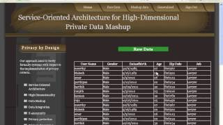 Service Oriented Architecture for High Dimensional Private Data Mashup