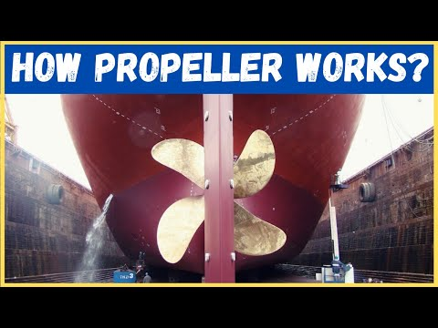 HOW DOES SHIP MOVE ?  #propeller #shipworking #marinepropeller