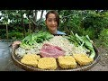 Yummy Noodle Stir Fried Beef Recipe - Noodle Cooking With Beef - Cooking With Sros