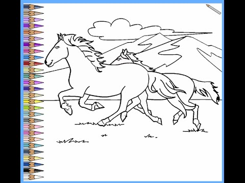 coloring pages wild horses - photo#15