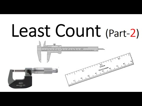 Le Ast least count part 2 how to find least count of micrometer