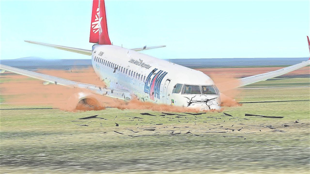 Embraer E190 LAM Mozambique Airlines Flight 470 Plane Crash Detailed Animation - [29 November 2013]