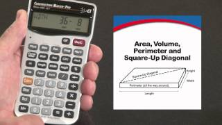 How to do Area, Volume, Square-up Diagonal | Construction Master Pro
