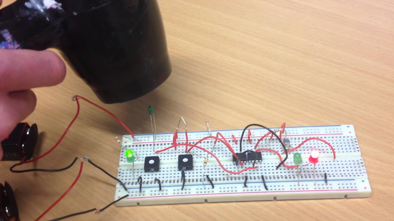 Rm Electronics Temperature Sensor Circuit Breadboard