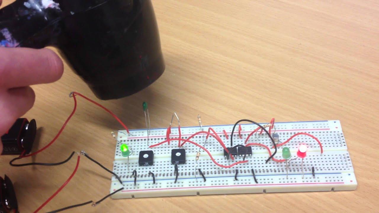 RM Electronics temperature sensor circuit -breadboard- - YouTube