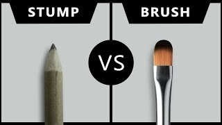 Which one is better for blending | Dry brush VS Paper stump