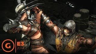 Mortal Kombat X Scorpion vs Ferra/Torr Gameplay - E3 2014