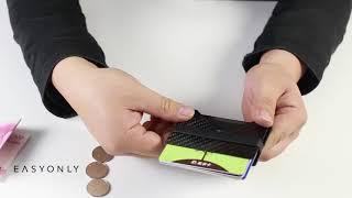 Fabolouz Real Carbon Fiber Anti-RFID Proficient Slim Card Holder Money Bill Clip