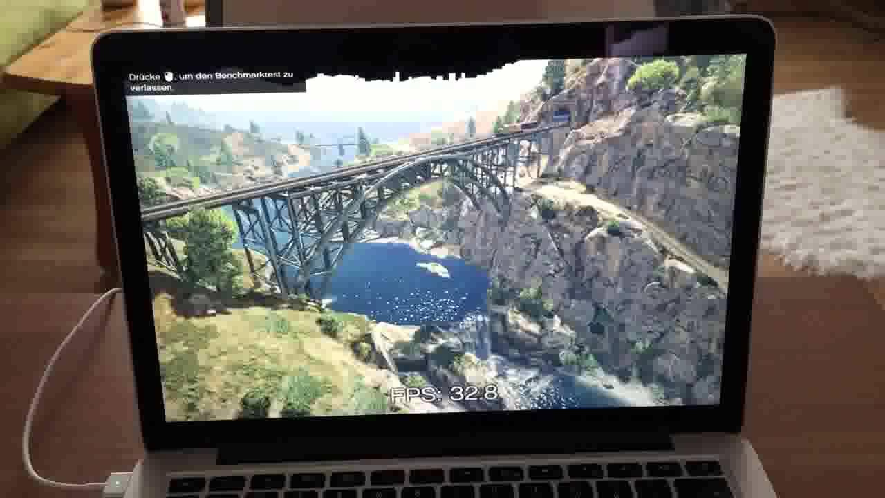 Intel Iris Pro 6100 Gta 5 Macbook Pro 13 2015 Youtube