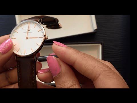 Daniel Wellington Classic Bristol Lady watch - Dark brown Rose Gold