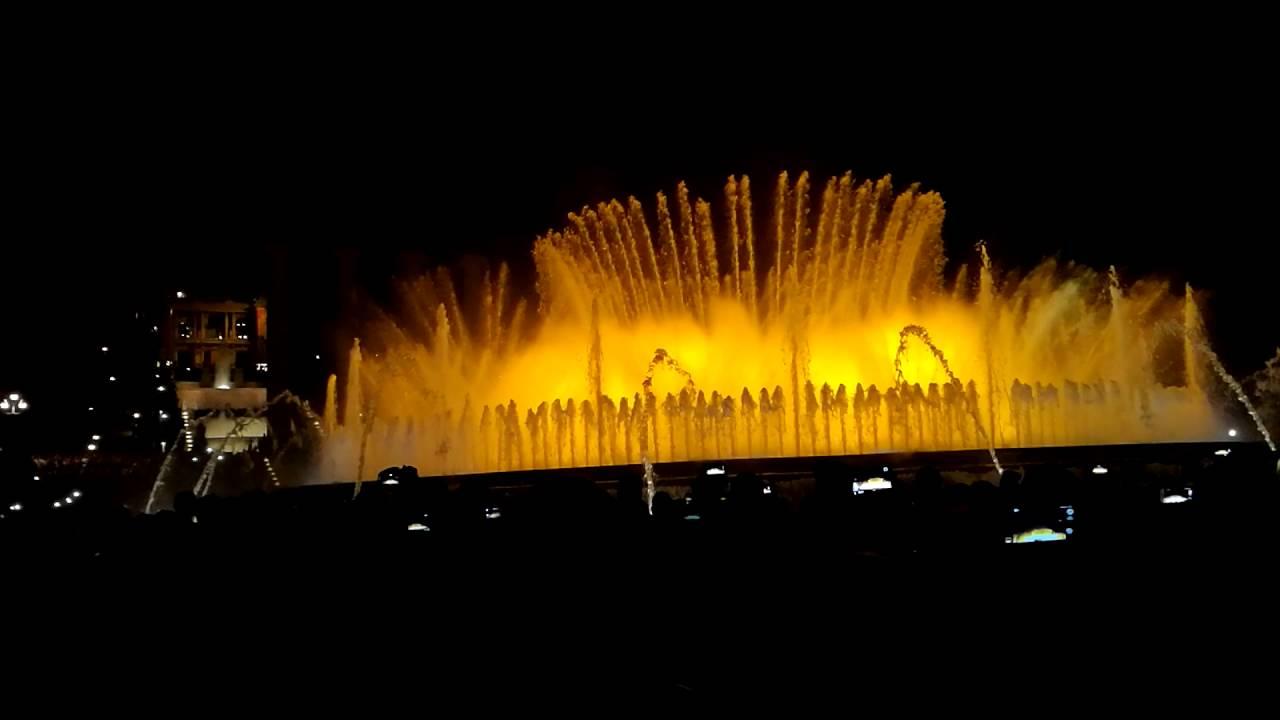 Brunnen Barcelona.Magischer Brunnen Barcelona Font Màgica