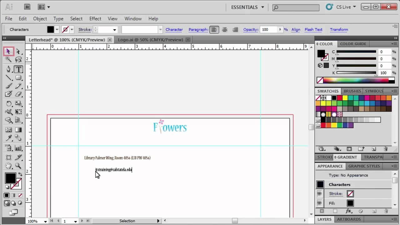 3.4 Making a Letterhead: Adobe Illustrator CS5 - YouTube