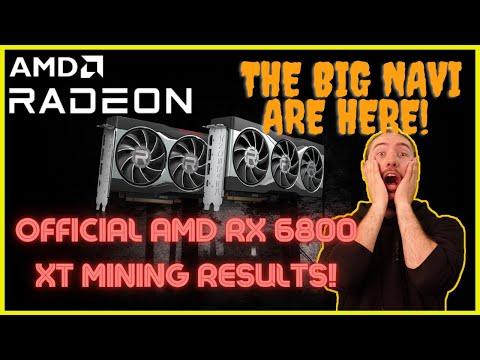 Official BIG NAVI AMD RX 6800 XT Mining Hashrate Results