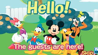 Minnies Mouse Dinner Party And Mickey Mouse All Ears Cake &quotDisney Junior Games&quot Videos GAMEPLAY