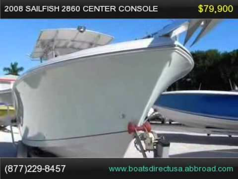 2008 Sailfish 2860 Center Console, Florida Boat For Sale