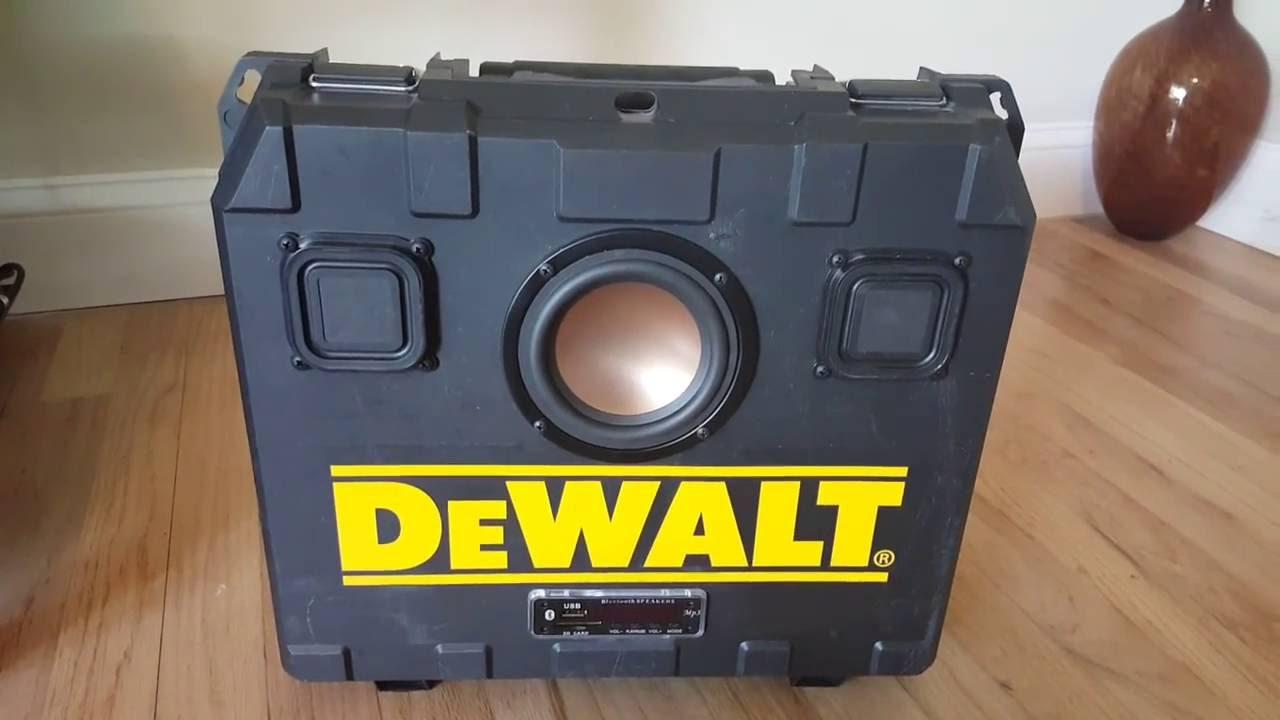 how to connect to dewalt bluetooth speaker