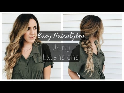 2 Easy Go-To Hair Styles using Hair Extensions! | Luxy Hair