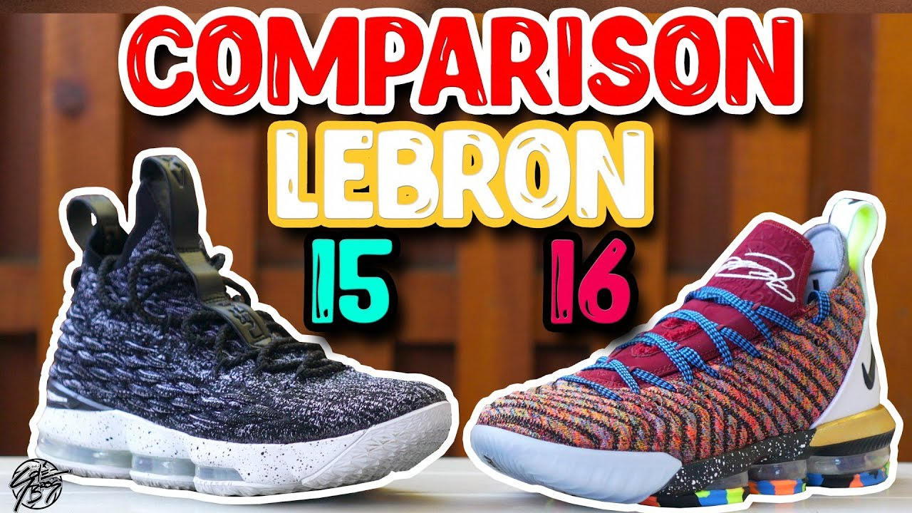 newest 06c05 57d08 Nike Lebron 15 & Lebron 16 Comparison! What's Better?!