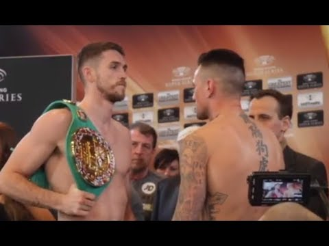 CALLUM SMITH v NIEKY HOLZKEN - WEIGH IN & HEAD TO HEAD VIA GERMANY / WORLD BOXING SUPER SERIES