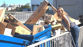 DUMPSTER DIVING- SHE WENT TO SIX RETAIL STORES!