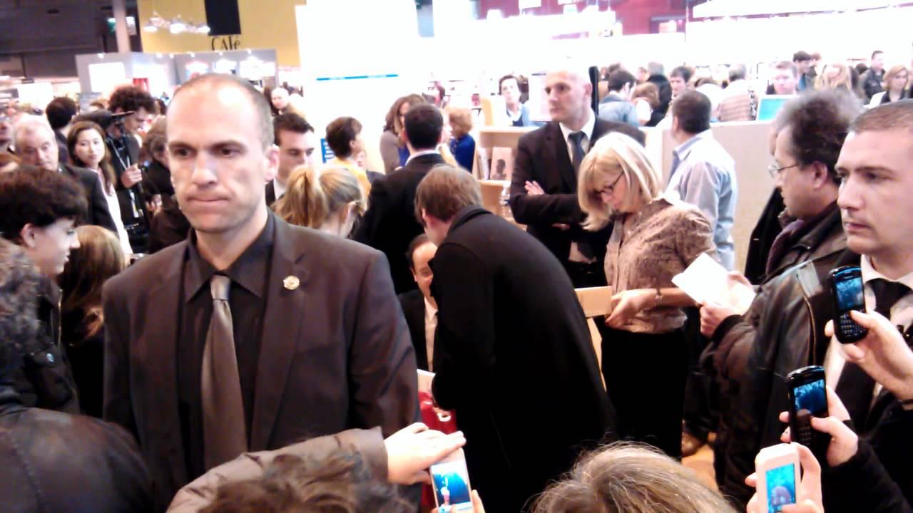 fran ois hollande au salon du livre de paris 2012 youtube