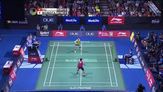 Hu Yun vs Kento Momota | MS F Match 3 - OUE Singapore Open 2015