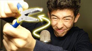 ASMR extreme mic pulling