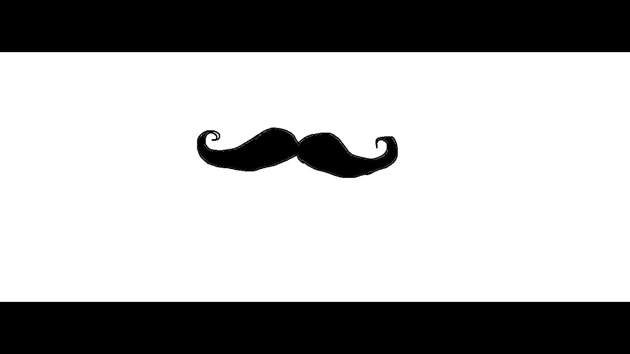 Mustache simple. Easy kids drawing lessons