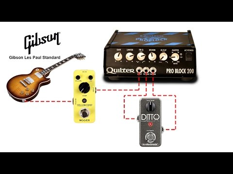 Pro Block 200 Les Paul Standard Demo With Mooer Yellow Comp And Ditto Looper