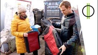 Légzsákból kabát, biztonsági övből táska